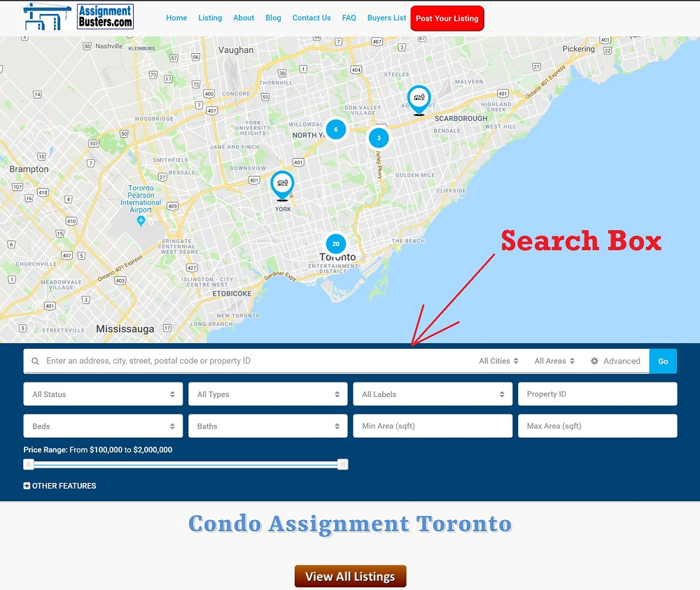 Condo-Assignment-Search-Box