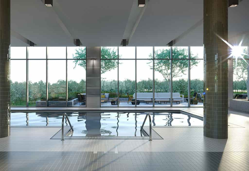 Indoor Pool Lounge at The Peak Condos Assignment Sale